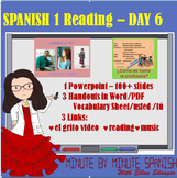 Spanish 1 Day 6  Reading, Spanish Cognates,  Spanish Countries,
