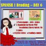 Spanish 1 Day 6  Reading, Spanish Cognates,  Spanish Countries,