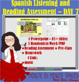 Spanish 1 Day 7  Reading and Listening Assessment Greeting