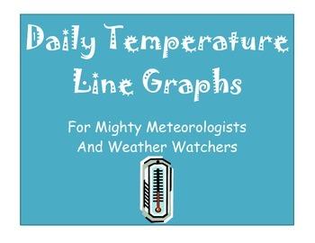 Daily Temperature Line Graph Set