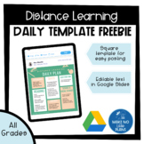 Daily Template for Distance Learning in Google Slides *Freebie*