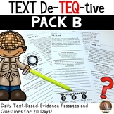 Daily Text-Evidence Passages and Questions (Pack B): Grades 3/4
