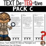 Daily Text-Evidence Passages and Questions (Pack C): Grades 3/4