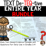 Daily Text-Evidence Questions- YEAR LONG BUNDLE- Grades 3/4