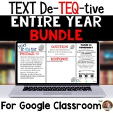 Daily Text-Evidence Questions for Use with Google Classroom- YEAR LONG BUNDLE