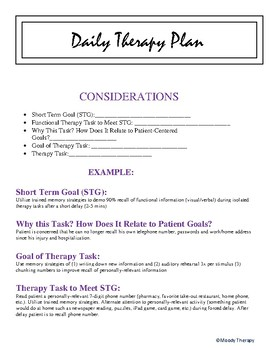 Daily Therapy Planing