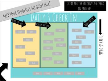 Daily Three Check In, SmartBoard