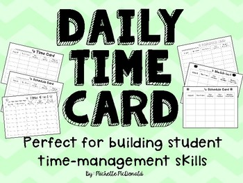 Daily Time Card: Time Management (FREEBIE)