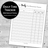 Daily Time Management Tracker