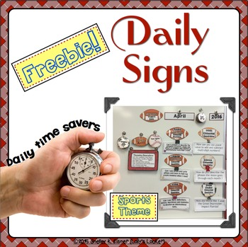 Daily Time Saver Signs
