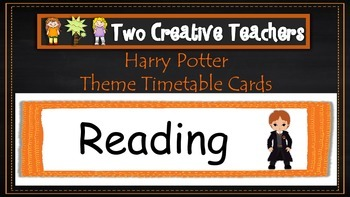 Daily Timetable Cards Harry Potter Theme