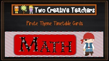 Daily Timetable Cards Pirate Theme 2