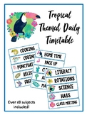 Daily Timetable Cards Tropical Theme