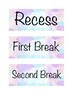 Daily Timetable Cards Watercolour Theme