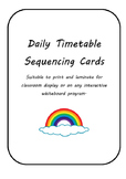 Daily Timetable School Routine Cards - Autism ASD ESL