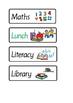Daily Timetable School Routine Cards - Autism ASD ESL