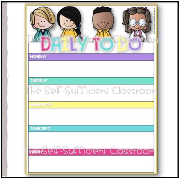 Daily To-Do Checklist (Editable)