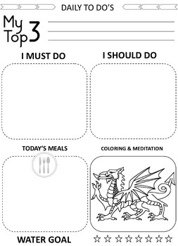 Daily To Do List Journal: Organize your Day and Goal Setting Planner