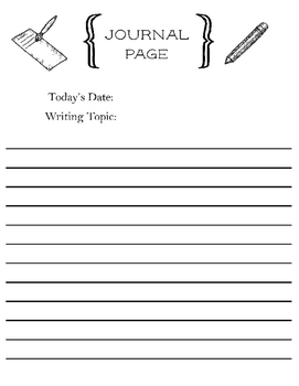 Daily Topic Writing Prompt - Self Generating Worksheet - Advanced Writers