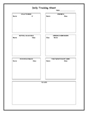Daily Tracking Sheet for Classroom