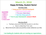 Daily Transitions & Schedule PPT