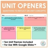 Daily Unit Opener Questions (Fourth Grade Benchmark Advance)