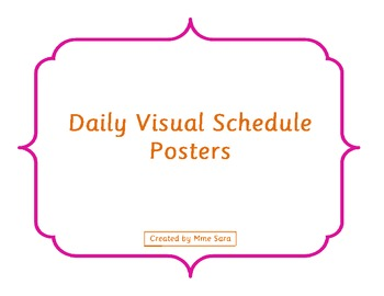 Daily Visual Schedule Posters