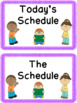 Purple Daily Schedule with Visual Pictures
