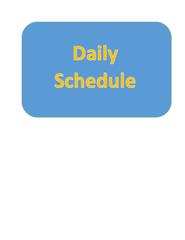 Daily Visual Timetable