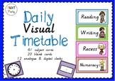Timetable Cards | Visual Schedule Cards Victorian Cursive