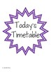 Timetable Cards   Visual Shedule Cards for Early Years Classrooms
