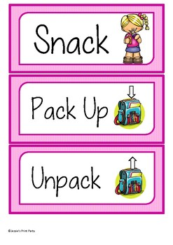 Timetable Cards | Visual Shedule Cards for Early Years Classrooms