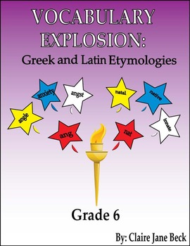 Daily Greek & Latin Root Word Vocabulary Lessons - 6th Grade