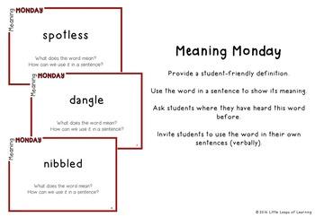 Daily Vocabulary Mini-Lessons: Grade 1 (SET C)