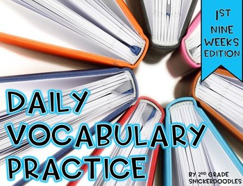 Daily Vocabulary Practice {1st nine weeks edition}