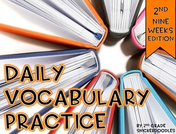 Daily Vocabulary Practice {2nd nine weeks edition}