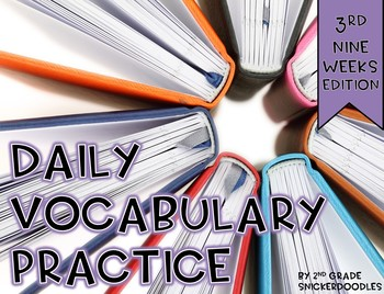 Daily Vocabulary Practice {3rd nine weeks edition}