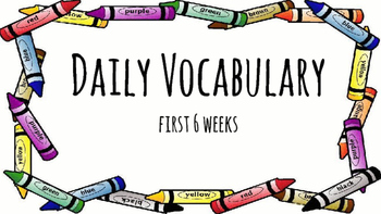 Daily Vocabulary Slides Part 1