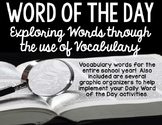 Vocabulary Word Work - Word of the Day