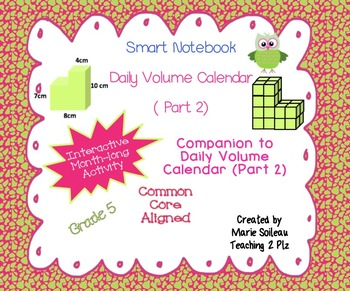 Daily Volume Calendar (Part 2) for Smartboard