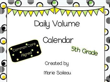 Daily Volume Calendar for Smartboard