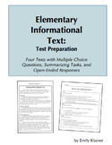 Elementary Informational Text Test Preparation