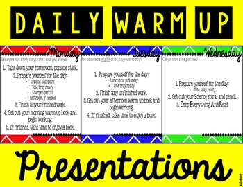 Daily Warm Up Presentations