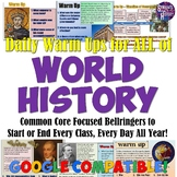 Daily Warm Up Questions for ALL of World History
