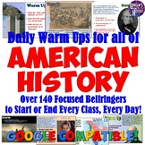 Daily Warm Up Questions for ALL of US History Bundle