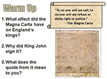 Daily Warm Up Questions for World History I