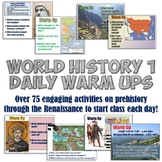 World History 1 Daily Warm Up Activities