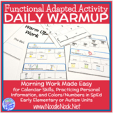 Daily Warm Up for Calendar Skills & Personal Information i