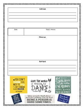 Daily Warm-Up or Bell-Ringer Graphic Organizer