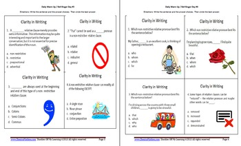 Common Core Aligned  ELA Bell Ringers for Visual Learners-  2.3